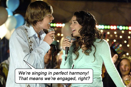 HIGH SCHOOL MUSICAL Zac Efron Vanessa Hudgens